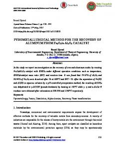 PYROMETALLURGICAL METHOD FOR THE