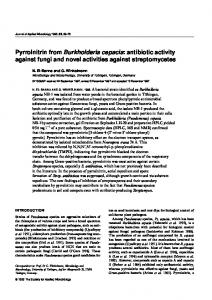 Pyrrolnitrin from Burkholderia cepacia - Wiley Online Library