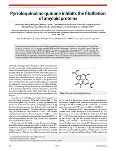 Pyrroloquinoline quinone inhibits the fibrillation of amyloid proteins