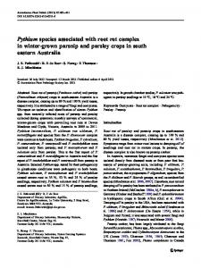 Pythium species associated with root rot complex in ... - Springer Link
