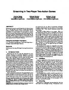 Q-learning in Two-Player Two-Action Games - Teamcore