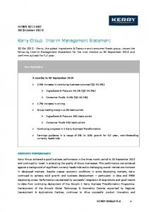Q3 2013 IMS - Kerry Group