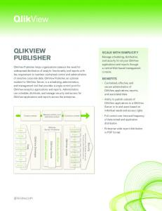 QLIKVIEW PUBLISHER