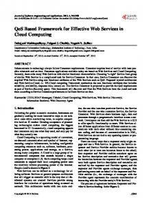 QoS Based Framework for Effective Web Services in ...