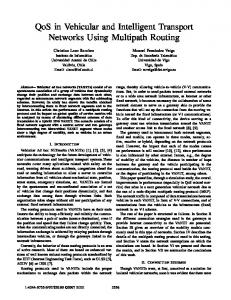QoS in Vehicular and Intelligent Transport Networks Using Multipath ...