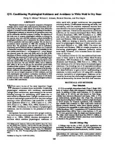 QTL Conditioning Physiological Resistance and ... - PubAg - USDA