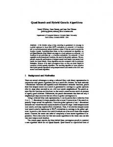 Quad Search and Hybrid Genetic Algorithms