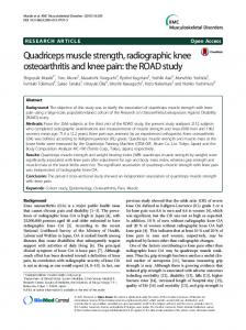 Quadriceps muscle strength, radiographic knee ... - Springer Link