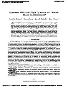 Quadrotor Helicopter Flight Dynamics and Control - Semantic Scholar