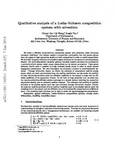 Qualitative analysis of a Lotka-Volterra competition system with ...