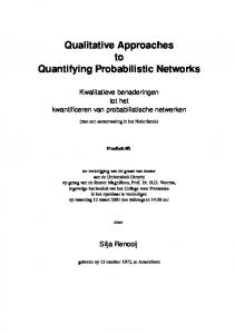 Qualitative Approaches to Quantifying Probabilistic Networks - CORE