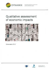 Qualitative assessment of economic impacts