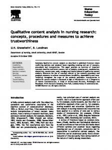 Qualitative content analysis in nursing research: concepts, procedures ...