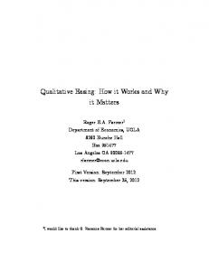 Qualitative Easing: How it Works and Why it Matters - St. Louis Fed