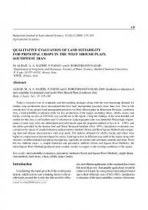 QUALITATIVE EVALUATION OF LAND SUITABILITY FOR PRINCIPAL ...