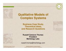 Qualitative Models of Complex Systems Business