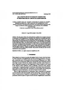 QUALITATIVE STUDY OF ORGANIC COMPOUNDS IN