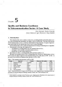 Quality and Business Excellence in