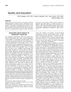Quality and Education - Wiley Online Library