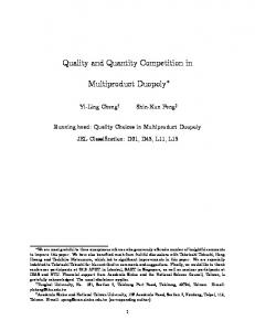 Quality and Quantity Competition in Multiproduct ...