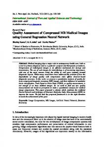 Quality Assessment of Compressed MR Medical Images using