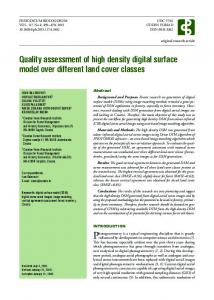 Quality assessment of high density digital surface model over ... - Racurs