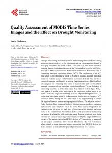 Quality Assessment of MODIS Time Series Images