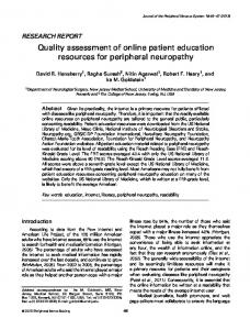 Quality assessment of online patient education ... - Wiley Online Library