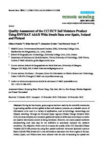 Quality Assessment of the CCI ECV Soil Moisture Product Using ...