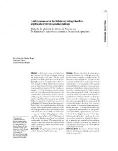 Quality assessment of the Website for Eating Disorders: a ... - SciELO