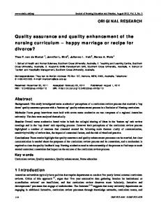 Quality assurance and quality enhancement of the ... - Sciedu Press