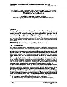 quality assurance evaluation for programs using
