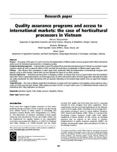 Quality assurance programs and access to