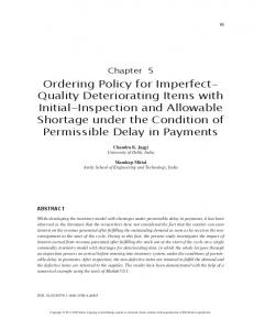 Quality Deteriorating Items with Initial-Inspection and