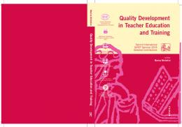 Quality Development in Teacher Education and Training