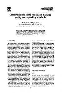 quality due to plucking standards tea - ScienceDirect