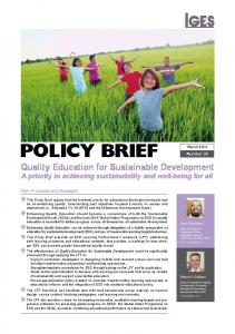 Quality Education for Sustainable Development - IGES Publication ...