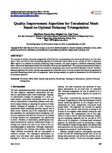Quality Improvement Algorithm for Tetrahedral Mesh Based on