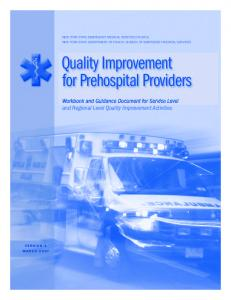 Quality improvement for Prehospital Providers
