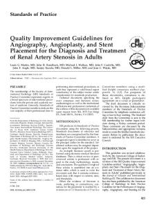 Quality Improvement Guidelines for Angiography, Angioplasty, and ...