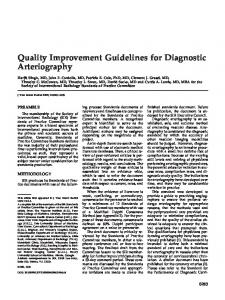 Quality Improvement Guidelines for Diagnostic ... - CiteSeerX