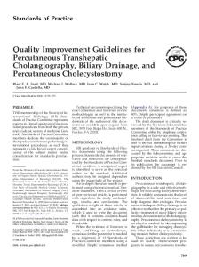 Quality Improvement Guidelines for Percutaneous Transhepatic ...
