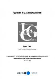 Quality in Careers Guidance - OECD.org