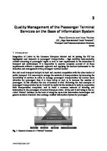 Quality Management of the Passenger Terminal ...