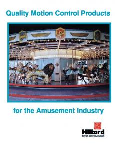 Quality Motion Control Products for the Amusement Industry