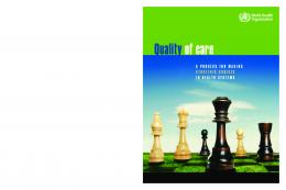 Quality of care - World Health Organization
