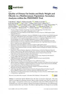 Quality of Dietary Fat Intake and Body Weight and Obesity in a ... - MDPI