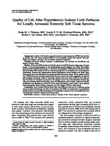 Quality of Life After Hyperthermic Isolated Limb ... - Springer Link