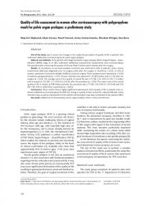 Quality of life assessment in women after ... - Semantic Scholar