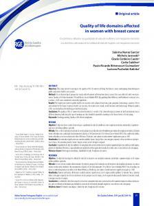 Quality of life domains affected in women with breast cancer